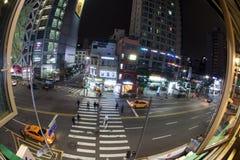 汉城交通在晚上,韩国 库存照片