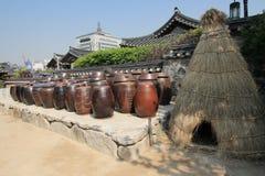 汉城伙计的韩国村庄 图库摄影