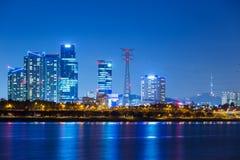 汉城在晚上 免版税库存照片