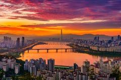 汉城市地平线 免版税库存照片