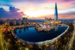 汉城市都市风景  图库摄影