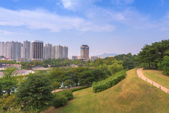 汉城森林公园在汉城市,韩国 图库摄影