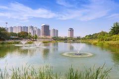 汉城森林公园在汉城市,韩国 免版税图库摄影
