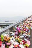 汉城,大韩民国- 2月09 :数千万能钥匙 免版税库存图片