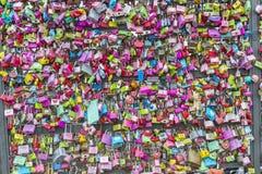 汉城,大韩民国- 2月09 :数千万能钥匙 库存照片