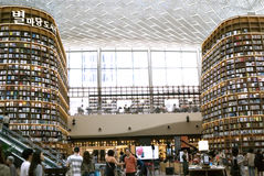 汉城,韩国, 2017年8月27日, ByeollMadang Starfield Coex广场图书馆 免版税库存图片
