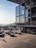 汉城,韩国- 2017年12月:现代音乐图书馆设计 库存照片
