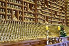 汉城,韩国- 2018年1月28日:在bongeunsa寺庙汉城韩国的金黄Budha 免版税库存照片