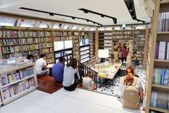 汉城,韩国- 2015年8月13日:束人阅读书在COEX大会和展览会-汉城书店,南 图库摄影
