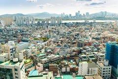 汉城,韩国- 2017年9月17日:汉城市风景照片,韩国 库存照片