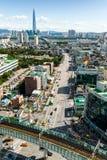 汉城,韩国- 2017年9月17日:汉城市风景照片,韩国 免版税库存图片