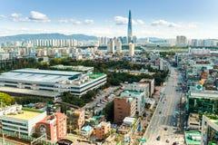 汉城,韩国- 2017年9月17日:汉城市风景照片,韩国 图库摄影