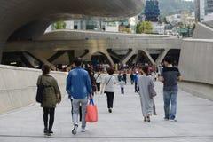 汉城,韩国5月19日, 2017-Dongdaemun设计广场 免版税库存照片