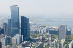 汉城,韩国- 2015年4月24日:汉城鸟瞰图  图库摄影