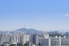 汉城,韩国- 2014年8月30日:麻浦区看法  库存照片