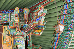 汉城,韩国- 2017年5月28日:Jogyesa寺庙 库存图片