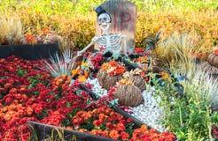 汉城,韩国- 10月25 :万圣夜党装饰 免版税库存图片