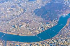汉城从上面 免版税库存照片