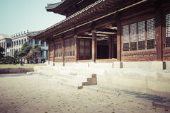 汉城- 2016年10月21日:Deoksugung宫殿在汉城,南Kore 免版税库存照片