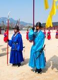 汉城- 3月30 :在改变的皇家卫兵卫兵期间 图库摄影