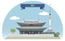 汉城 向量例证