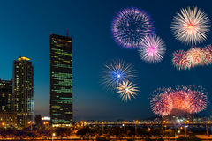 汉城Fieworks节日 库存图片