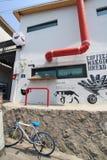 汉城Ihwa壁画村庄看法  免版税图库摄影