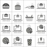 汉堡、薄饼和饮料传染媒介象设置了, 库存照片