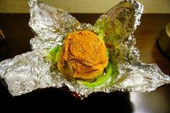 汉堡包健康素食主义者 免版税库存照片