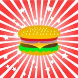 汉堡包向量 库存照片