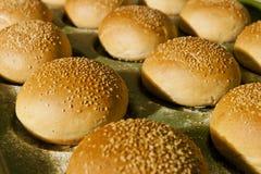 汉堡包小圆面包 免版税库存照片