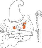 汉堡包巫术师 免版税库存图片