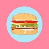 汉堡包平的设计传染媒介 免版税库存图片