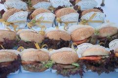 汉堡包开胃菜 免版税图库摄影