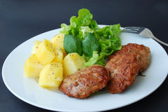 汉堡包沙拉蔬菜 免版税库存图片