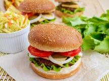 汉堡包的三明治家 图库摄影
