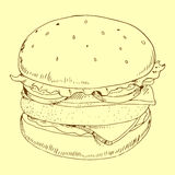 汉堡包膳食传染媒介例证 免版税图库摄影