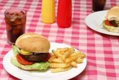 汉堡包膳食 库存照片