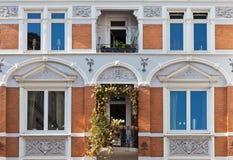 汉堡历史房子 免版税图库摄影