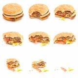 汉堡吃 免版税图库摄影