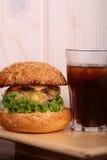 汉堡和可乐 库存照片
