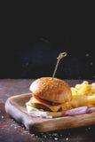 汉堡和土豆 库存照片