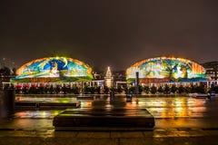 汉堡圣诞节市场童话小船  库存照片