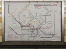 汉堡地下火车网络映射 图库摄影
