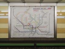 汉堡地下火车网络映射 免版税库存照片