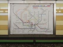 汉堡地下火车网络映射 库存照片