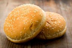 汉堡小圆面包 免版税库存照片