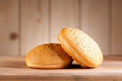 汉堡小圆面包 库存图片