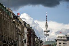 汉堡市无线电铁塔大厦建筑学 免版税库存照片