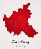 汉堡德国艺术地图 免版税库存照片